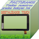 Touch Screen Digitalizador Para Table Czy6411 F728h
