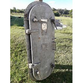 Rara Antiguedad Puerta X De Barco Submarino Original