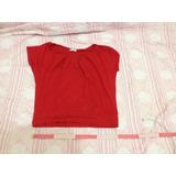 Blusa Vermelha Tamanho M Abertura Nas Costas Brechó Barato