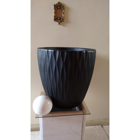 Vaso Para Plantas Infinity Redondo N37 Preto - Polietileno