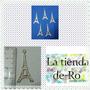 Dije Torre Eiffel/ Metal/ 3, 5cm/ 5 Unidades