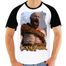 Camisa, Camiseta God Of War Kratos - Estampada Geek Game