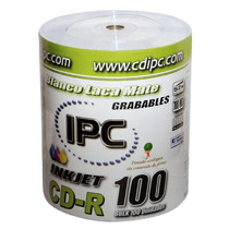 Cd Printable Ipc Full Inkjet Bulk X 100 - Oferta Increíble