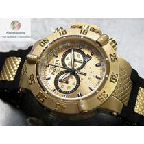 Relógio Invicta Cronógrafo Subaqua Suiço 5517 Plaque Ouro