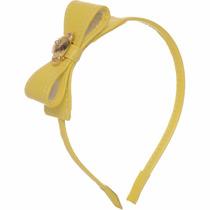 Tiara Lilica Ripilica Original Laço Amarelo