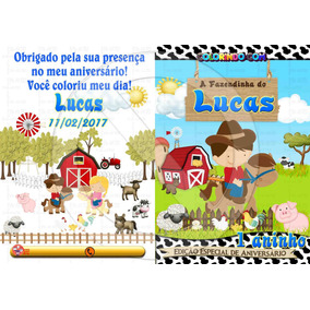 15 Kits Livro De Colorir Personalizado + Giz De Cera (p)