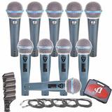 Kit Com 05 Microfones Arcano G-58a Ou G-58b = Beta58