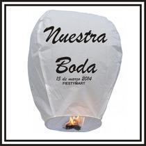 Personalización Globos De Cantoya Impresos Boda Xv Linterna