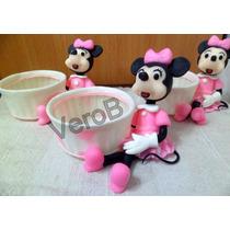 Minnie Y Mickey Souvenirs Centro De Mesa Carameleras Grandes