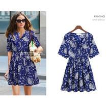 Vestido Estampa De Azulejo Importado Pronta Entrega Brasil