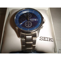 Seiko 3 Cronografos Azul Nuevo Exclusivo