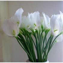 Flor Artificial Copo De Leite Em Silicone