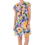 Vestido Belle & Bei Estampa Musseline Florida- Sob Medidas