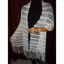 Pashmina Super Canchera De Lana Tejida Al Crochet