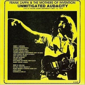 Frank Zappa Cd Unmitigated Audacity Raro Importado Lacrado