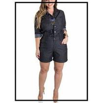 Macacão Jeans Plus Size *consultar Tam Disponível*