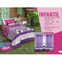 Set Infantil, Acolchado+sábanas+cortina 1 1/2plaza.