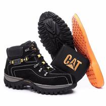 Kit Bota Adventure Caterpillar + Palmilha Gel E Carteira Cat