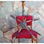 Historic.*-antigua Araña Sputnik Retro Vintage 8 Luces-envío