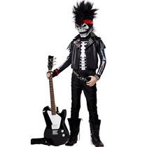 Disfraz De Rockero Zombie, Muerte Para Niños, Envio Gratis