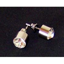 Aros Susanos Con Cubic Zircon Acero Quirurgico 316l 8mm