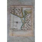 Antiguo Mapa De 1757 Del Puerto San Julian Patagonia Arg