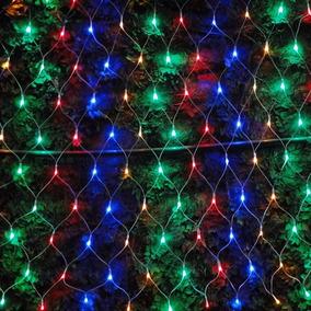 Pisca Pisca Rede 320 Leds Natal 8 Funçoes Colorido 127v