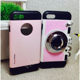 Capinha Capa Case Iphone 7 Maquina Fotografica Pink Luxo Top