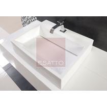 Esatto® Ovalín Lavabo Moderno De Ceramica Blanca Oc-023