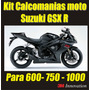 Kit Calcomanias Para Moto Suzuki Gsx-r 600- 750 Y 1000