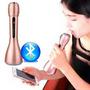 Microfone Karaokê Portátil Sem Fio + Bluetooth Caixa De Som