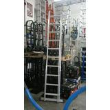 Escalera Aluminio Dual Extensible Y Tijera 7+7 Escalones.