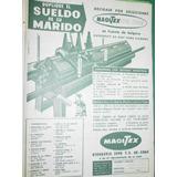 Publicidad Antigua Maquina Tejer Knitting Machine Magitex M2
