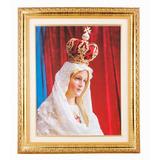 Quadro De Nossa Senhora De Fátima 42x52cm C/ Véu