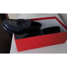 Zapatos Hombre De Cuero Negro Guido