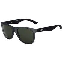 Mormaii Lances - Óculos De Sol Cinza E Preto Fosco/ Verde