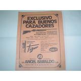 Publicidad 1973 Angel Baraldo Escopeta Franchi Tiger Rottwei