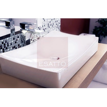 Esatto® Ovalín Lavabo Moderno De Ceramica Blanca Oc-25