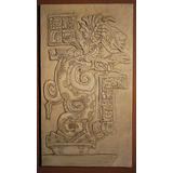 Cuadro Tallado Serpiente Maya - Medidas: 75 X 45,5 X 3 Cm