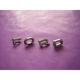 Ford Falcon-insignia Letras Ford De Capot Mod. 62-72