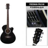 Guitarra Electroacústica Frlc40 Jumbo Freeman (envío Gratis)