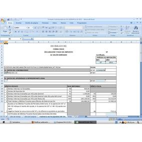 Programa Iva + Libro De Ventas + Compras + Data 2018