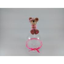 Lembrancinha Ursinho Rosa Mini Cúpula Biscuit