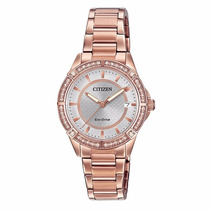 Reloj Citizen Fe606353a Eco-drive Pink Gold Time Square