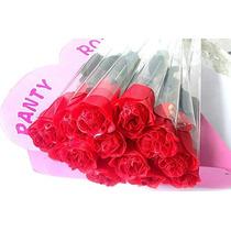 Kit Com 6 Calcinha Flor Tanga Sexy Botão De Rosa Vermelha