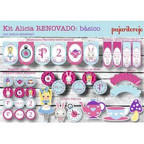 Kit Cumpleaños Alicia En El Pais De Las Maravillas