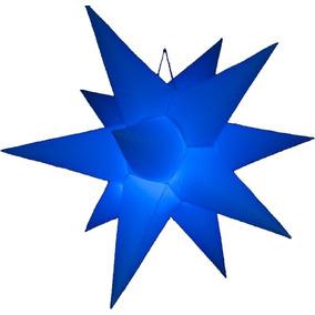 Mini Estrella Inflable Led Rgb Control Remoto 12 Puntas