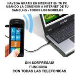 Navega Gratis En Tu Pc Con Tu Celular Samsung -envio Grats