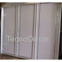 Porton Garage Aluminio Blanco Ciego Reforzado 270x200 Cm