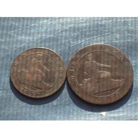 España. Lote De 5 Y 10 Céntimos Año 1870..